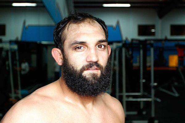 UFC welterweight Johny Hendricks after a workout at