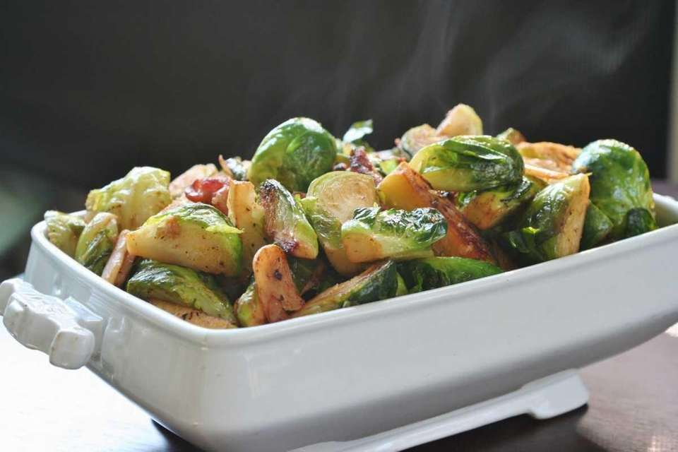 BRUSSELS SPROUTS WITH BACON: You can make this