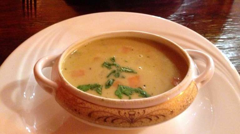 Mulligatawny soup at Fiza Family Diner in New