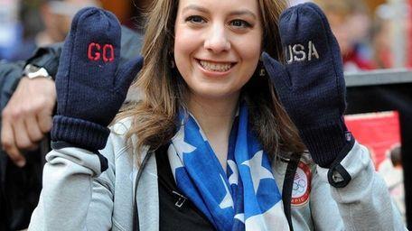 U.S. figure skater Sarah Hughes poses for a