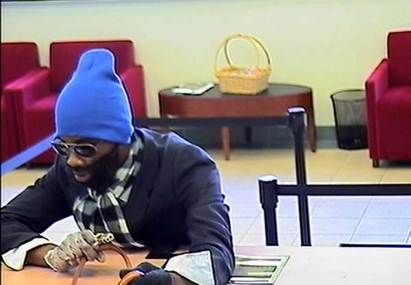 A suspect allegedly robs a bank on Atlantic