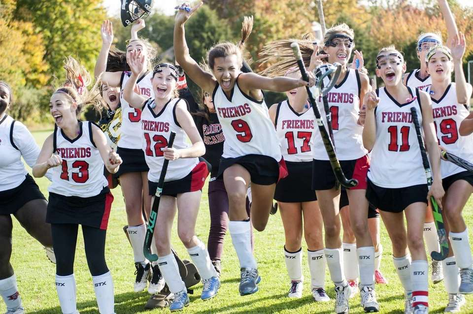 Friends Academy celebrates its victory over Oyster Bay
