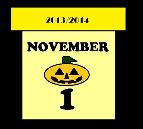 This calendar marks the celebration of Halloween in