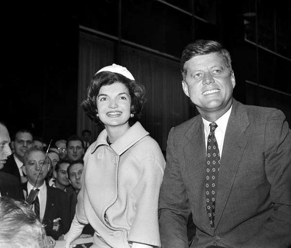 Sen. John F. Kennedy and his wife, Jacqueline,