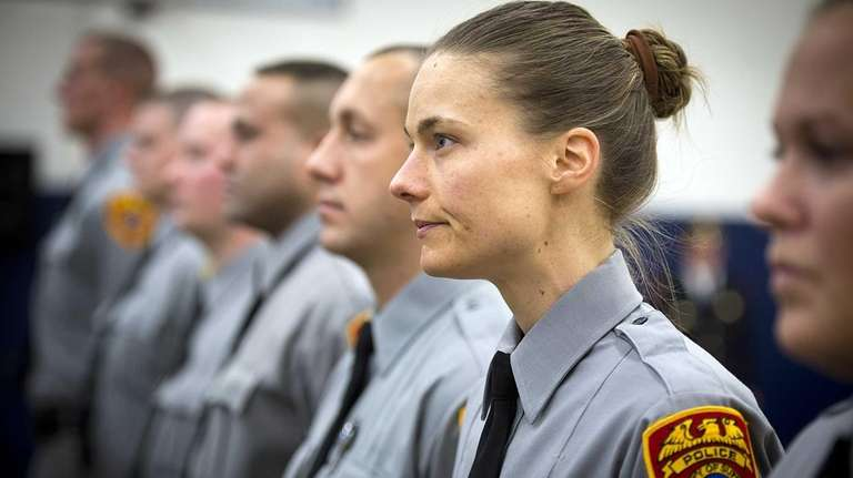 Suffolk County Police recruit Bethany Green, and other