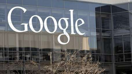 A Google sign at the company's headquarters in