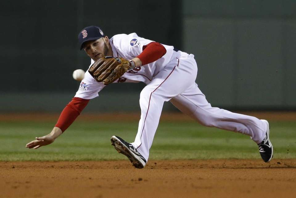 Boston Red Sox shortstop Stephen Drew can't make