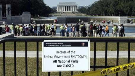 Despite signs stating that the national parks are