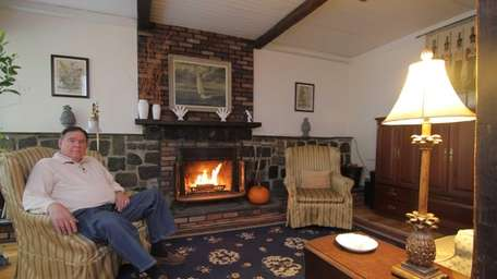 Donald Dubowski in the living room of his
