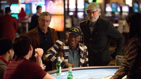 From left, Robert De Niro, Morgan Freeman, and