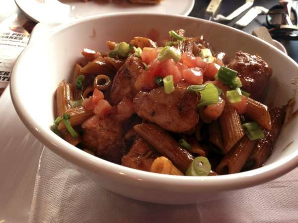 Cajun chicken and penne at Muscle Maker Grill