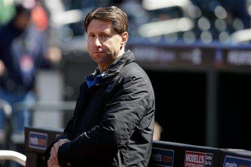 Jeff Wilpon looks on before the Mets' game