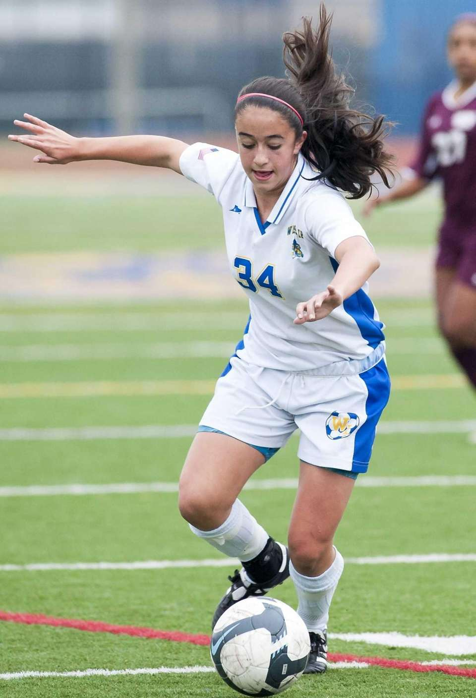 West Islip's Paige Sherlock, who scored her team's