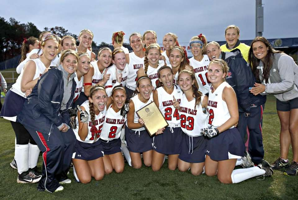 The Miller Place field hockey team poses after