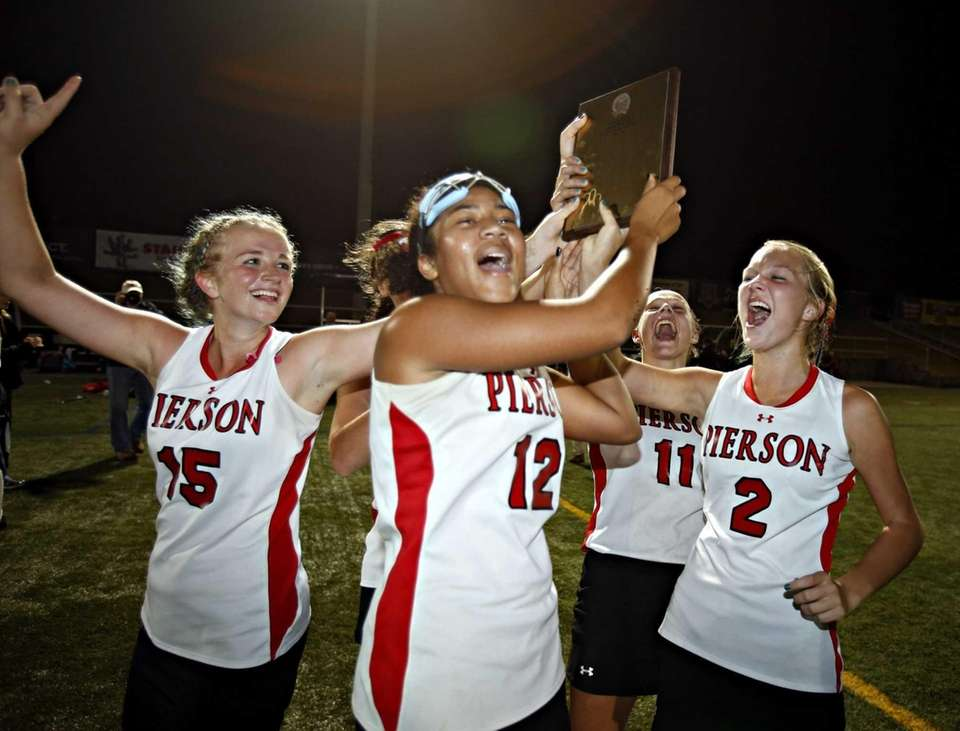 From left, Pierson captains, Kirra McGowan, India Hemby,