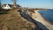 Erosion along the southeastern shore of Fishers Island
