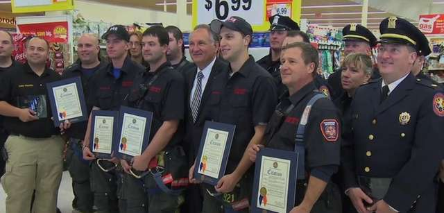 Stop & Shop in Oceanside honored first responders