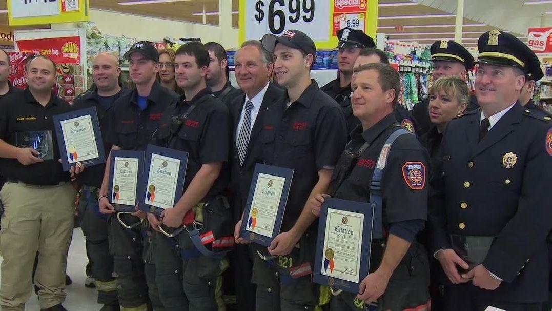 Stop & Shop in Oceanside honored first responders