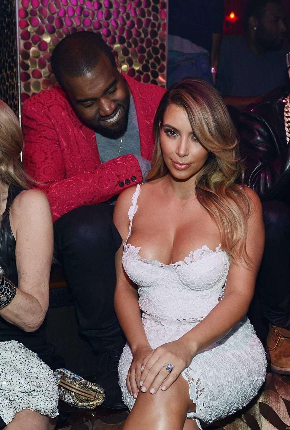 Kanye West and Kim Kardashian celebrate her birthday