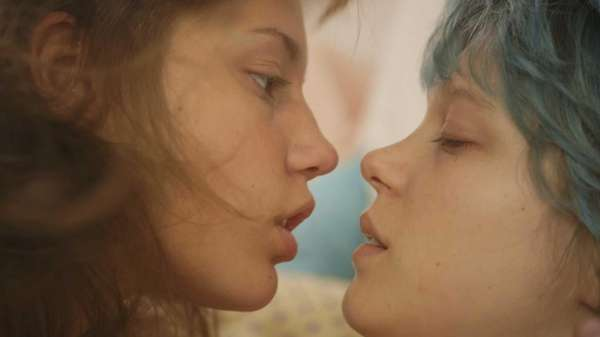 Adele Exarchopoulos, left, as Adele, and Lea Seydoux,