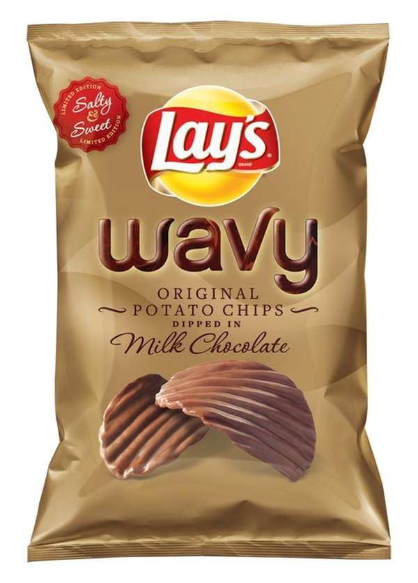 Lay's Wavy Original Potato Chips Dipped in Milk