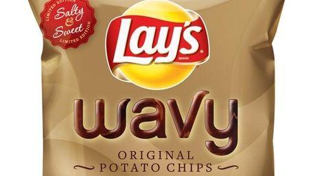 Lay's Wavy Original Potato Chips Dipped in Milk