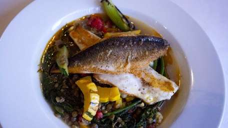 The seared bronzini at The Riverhead Project is