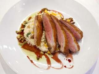 The Cresent Farm?s duck breast at The Riverhead