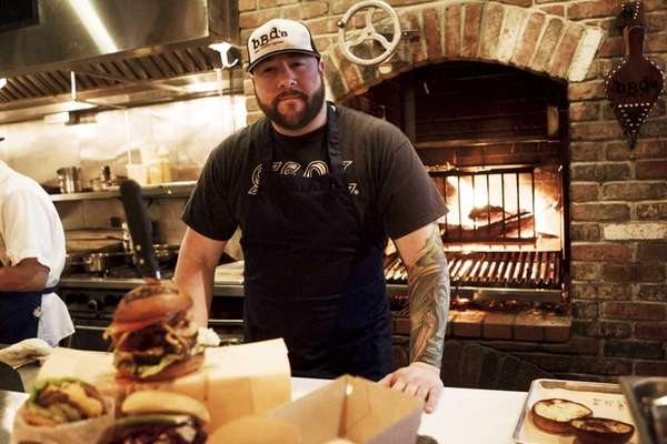 Chef-owner Ralph Perrazzo mans the grill at BBD's