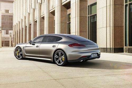 The 2014 Porsche Panamera Turbo S has two