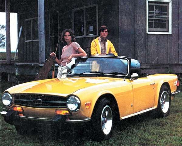 The later TR6 models were fitted with big
