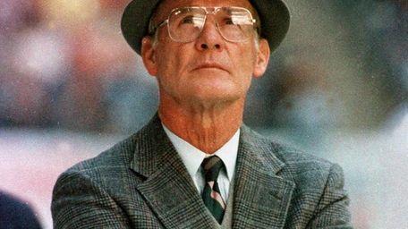 Former Cowboys coach Tom Landry.