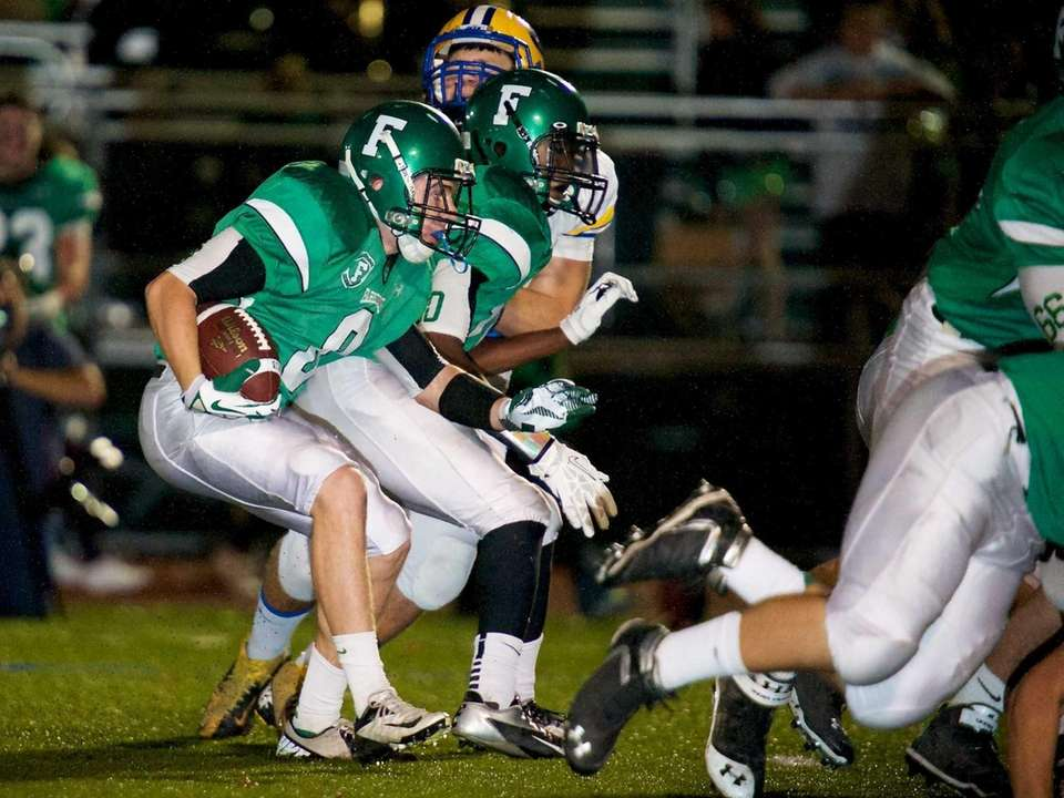 Farmingdale receiver Tom Kennedy looks for an open