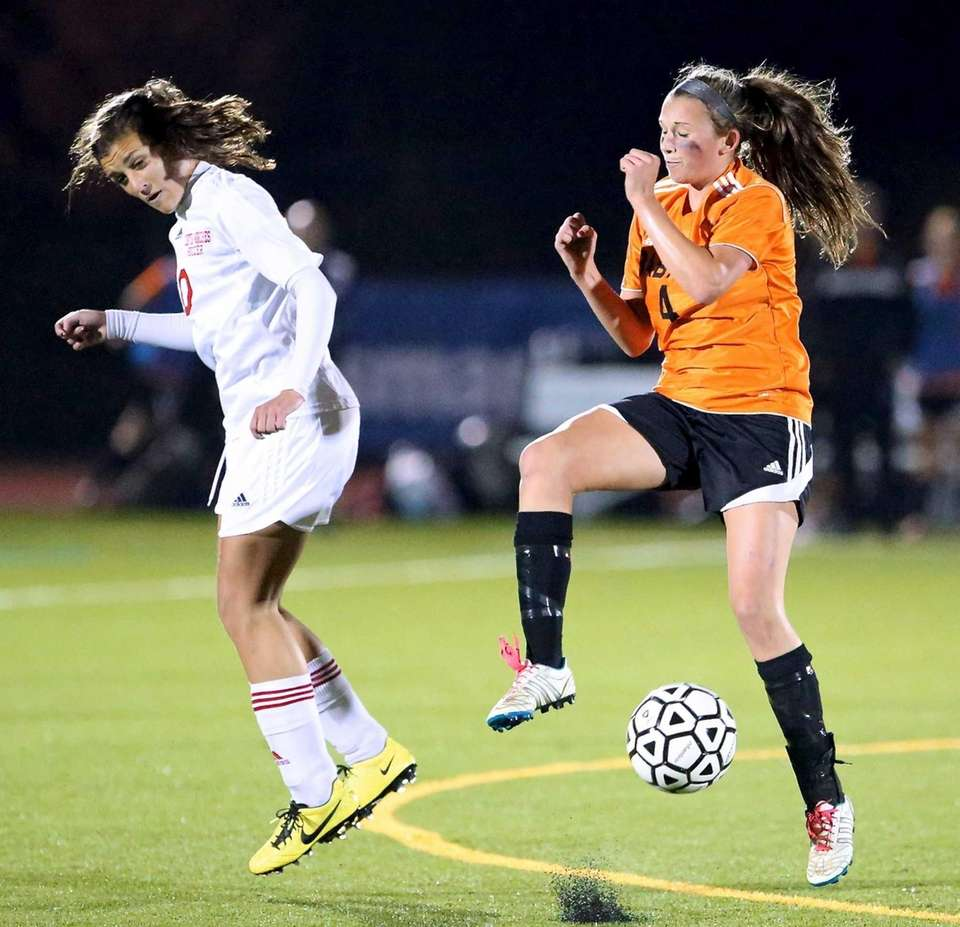 Babylon's Kaileen Hart and Center Moriches' Claire Brady