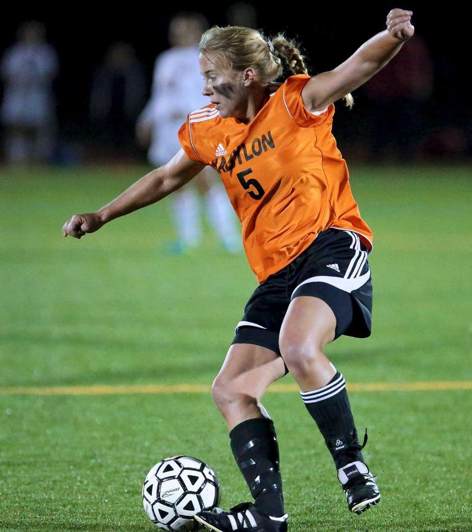 Babylon's Shelby Fredericks dribbles the ball into the