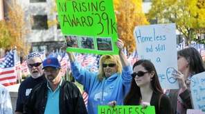 Long Island residents and local officials rallied outside