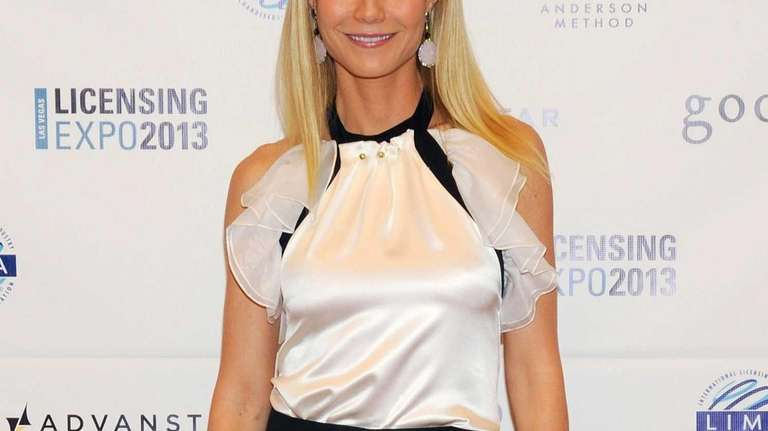 Actress Gwyneth Paltrow appears after delivering a keynote