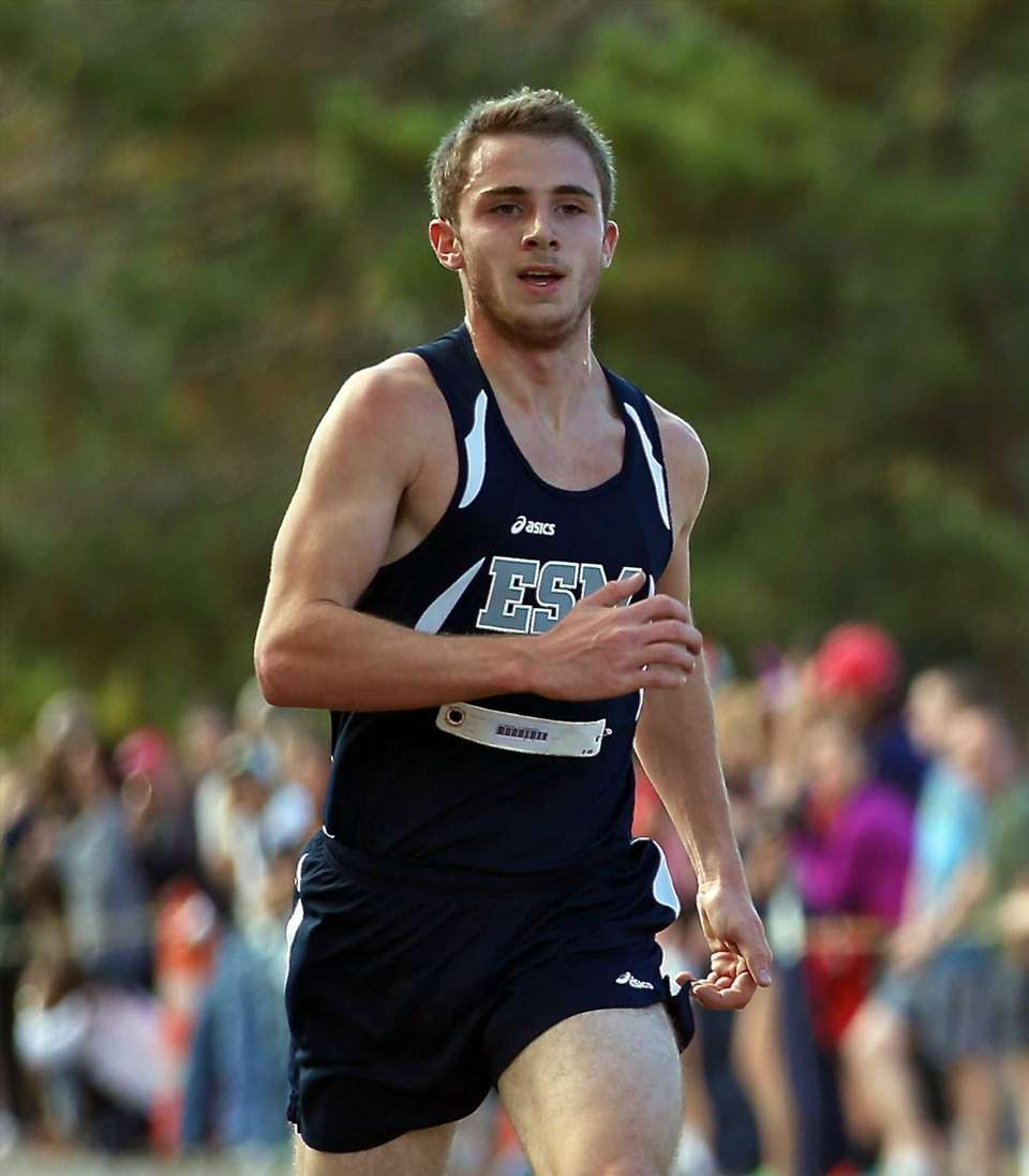 Eastport/South Manor's Tom Meehan competes in the Class