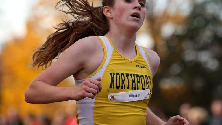 Northport's Brigid Brennan competes in the Class A