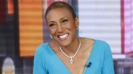 Anchor Robin Roberts hosts a broadcast of