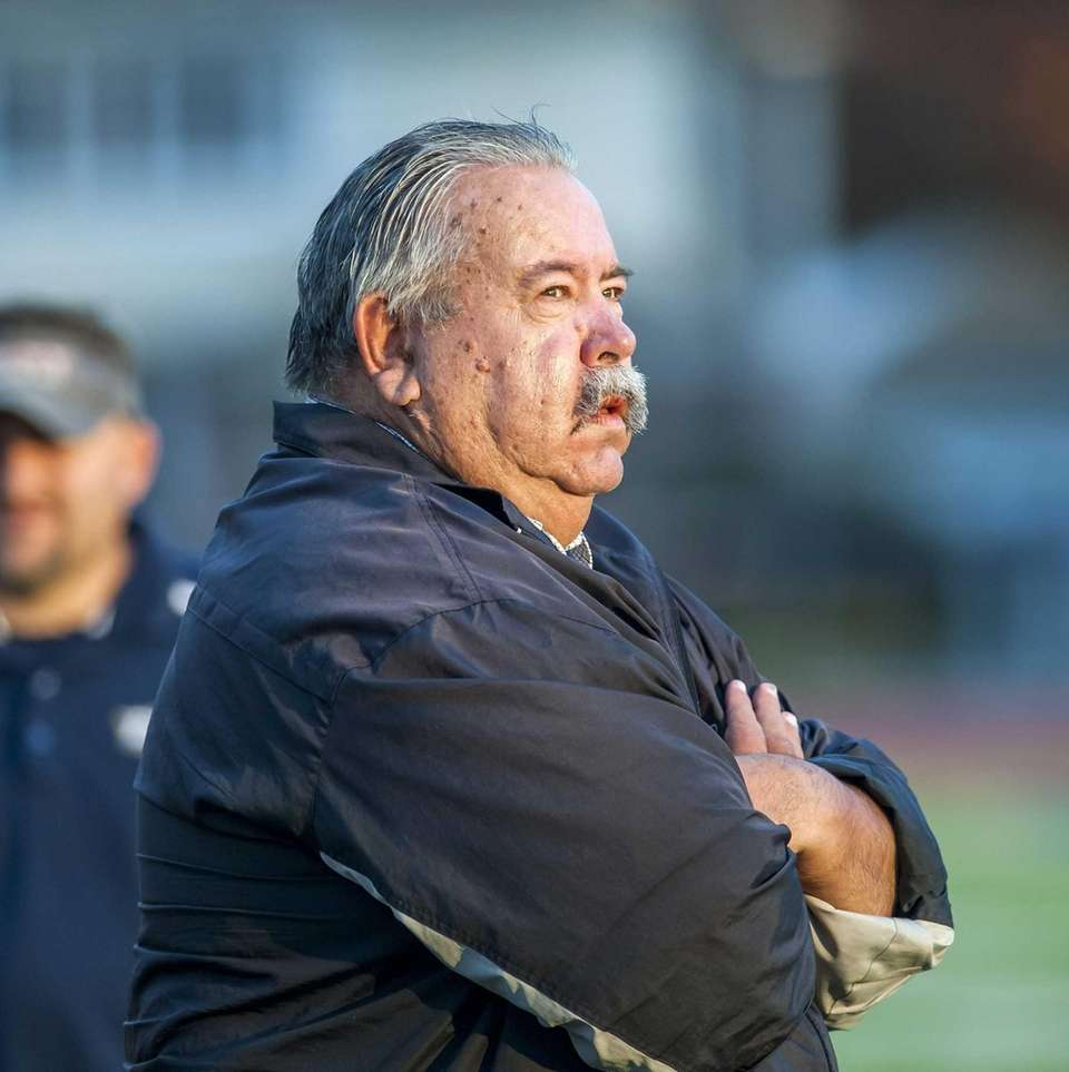 Bethpage head coach Erwin Dill is seen during