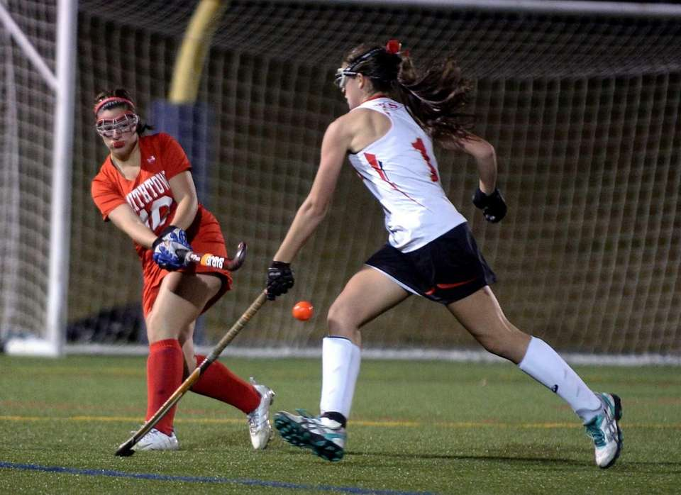 Smithtown sophomore Paige Meyer controls the ball against
