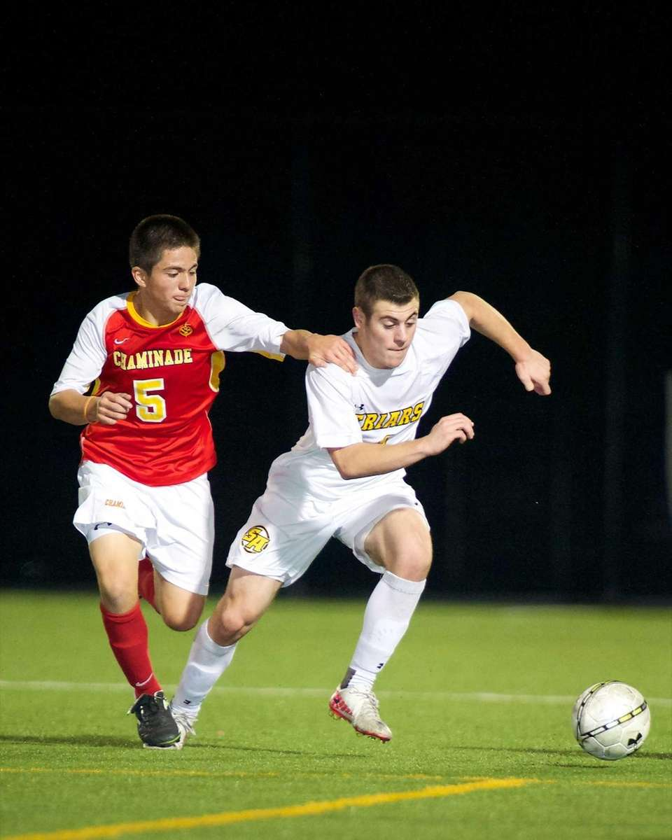 Chaminade's Danilo Lozada (5) battles with St. Anthony's