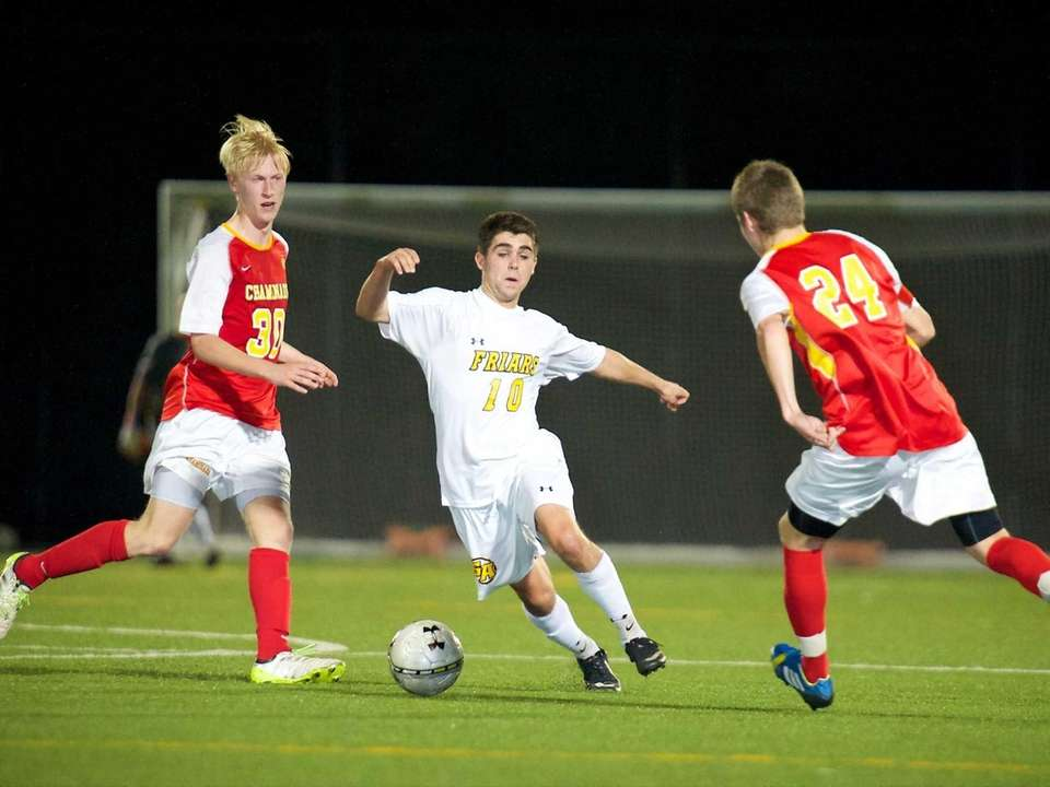 St. Anthony's midfielder TJ Butzke (10) attempts to