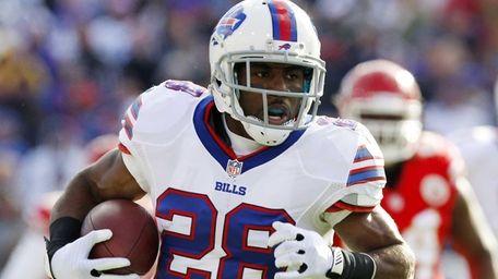 Buffalo Bills running back C.J. Spiller (28) rushes