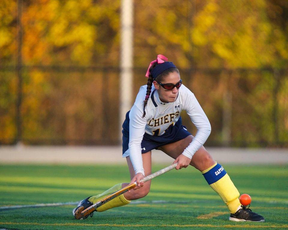 Massapequa midfielder Rachel Sieber (14) takes a shot