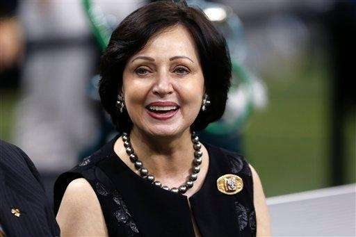Gayle Benson, wife of New Orleans Saints owner