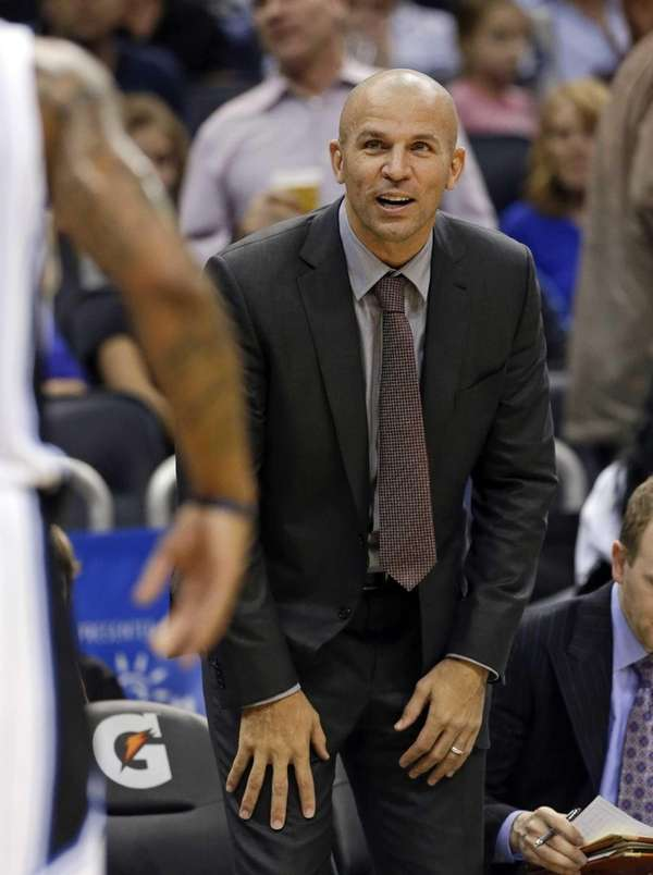 Jason Kidd watches his team during the first