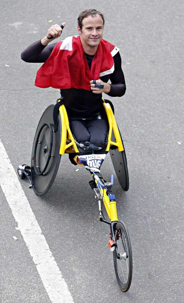 Mens pushrim wheelchair champion Marcel Hug of Switzerland