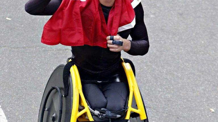 Mens pushrim wheelchair champion Marcel Hug of Switzerland